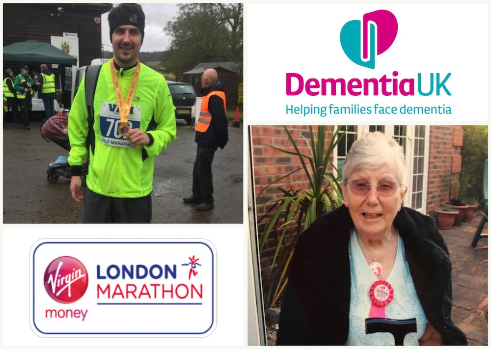 Grandson turned Athlete runs for Dementia UK